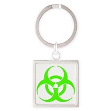 Green-Bio-Hazard Square Keychain