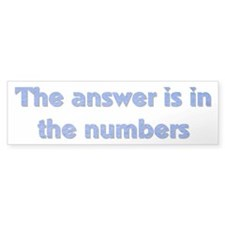 4 8 15 16 23 42 LOST Numbers gift Bumper Bumper Sticker