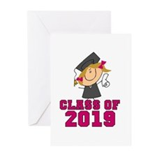 Pink Class of 2014 Grad Greeting Cards (Pk of 10)