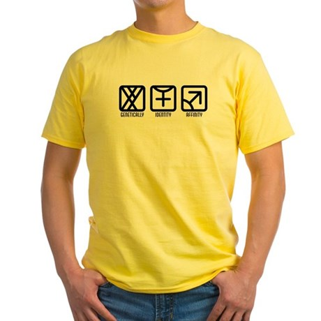 MaleFemale to Male Yellow T-Shirt