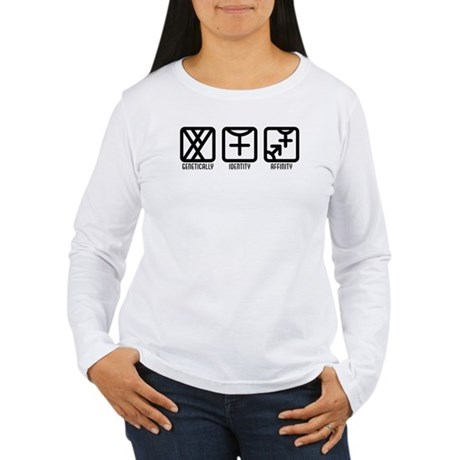 MaleFemale to Both Women's Long Sleeve T-Shirt