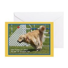 Golden Retriever Faceplant Birthday Greeting Card