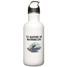 Id Rather Be Waterskiing Water Bottle