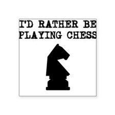 Id Rather Be Playing Chess Sticker