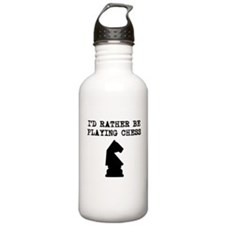 Id Rather Be Playing Chess Water Bottle