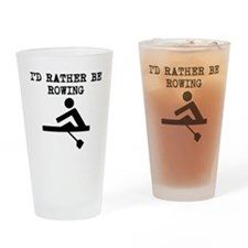 Id Rather Be Rowing Drinking Glass