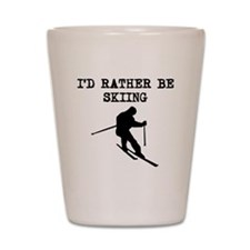 Id Rather Be Skiing Shot Glass