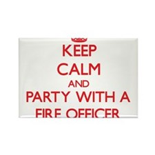 Keep Calm and Party With a Fire Officer Magnets