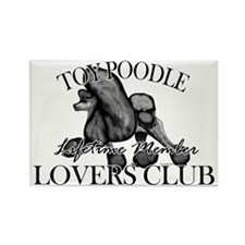 Toy Poodle Lovers Club BLK Rectangle Magnet