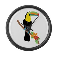 Toucan Bird Large Wall Clock