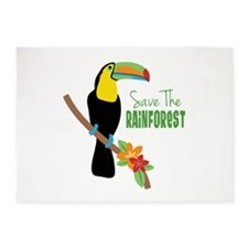 Save The Rainforest 5'x7'Area Rug