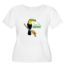 Save The Rainforest Plus Size T-Shirt