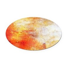 William Turner Sun Setting Over A  Oval Car Magnet