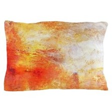 William Turner Sun Setting Over A Lake Pillow Case