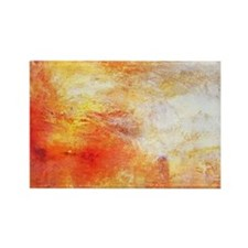 William Turner Sun Setting Over A Rectangle Magnet