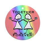 Together Forever Lesbian Ornament (Round)