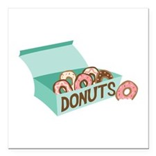 "Donuts Square Car Magnet 3"" x 3"""