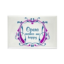 Opera happiness Rectangle Magnet