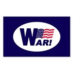 W-AR! Rectangle Sticker
