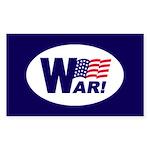 W-AR! Rectangle Sticker