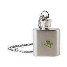 PNER GB Lime Logo Flask Necklace