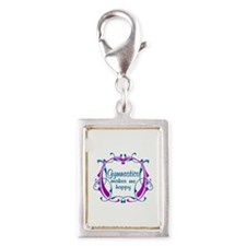 Gymnastics Happiness Silver Portrait Charm