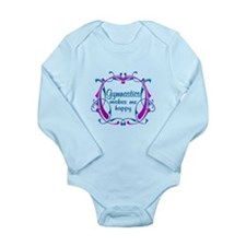 Gymnastics Happiness Long Sleeve Infant Bodysuit