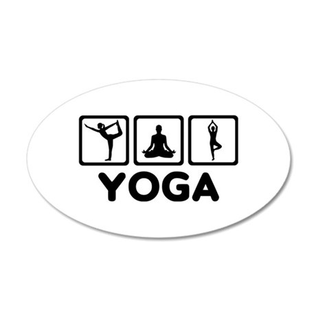Yoga exercise 20x12 Oval Wall Decal