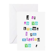 Missing U Greeting Card