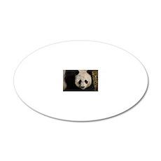 Cute Panda 20x12 Oval Wall Decal