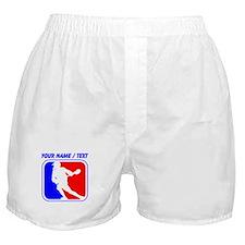 Custom Lacrosse League Logo Boxer Shorts