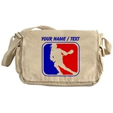 Custom Lacrosse League Logo Messenger Bag