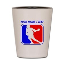 Custom Lacrosse League Logo Shot Glass