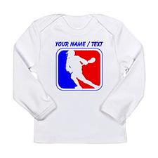 Custom Lacrosse League Logo Long Sleeve T-Shirt