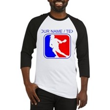 Custom Lacrosse League Logo Baseball Jersey
