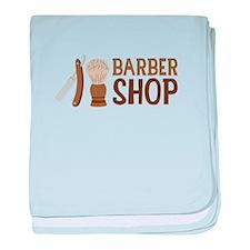 Barber Shop baby blanket