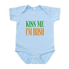 Kiss Me Im Irish St Patricks Day B Infant Bodysuit