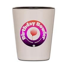 Birthday Bowler Shot Glass