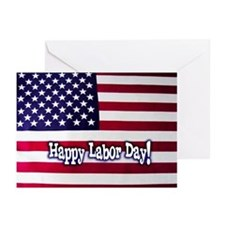 Labor Day American Flag Greeting Cards (Pk Of 20)