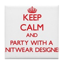 Keep Calm and Party With a Knitwear Designer Tile