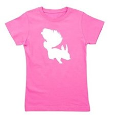 Squirrel Silhouette Girl's Tee