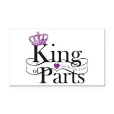 King Of Parts Rectangle Rectangle Car Magnet