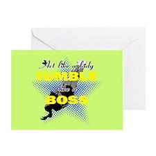Tumble Lika A Boss Cheerleader Greeting Card