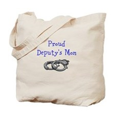 Proud Deputys Mom Tote Bag