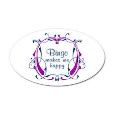 Bingo Happiness 20x12 Oval Wall Decal
