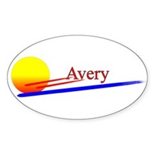 Avery Oval Decal