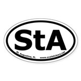 St. Augustine, FL Oval Car Decal