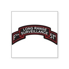 F Co 51st Infantry LRS Scroll Rectangle Sticker