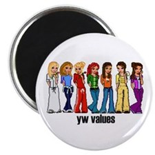 "YW Princess 2.25"" Magnet (100 pack)"