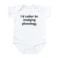 Study phonology Infant Bodysuit